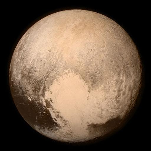 Fotografie Pluta pořízená sondou New Horizons 13. července 2015