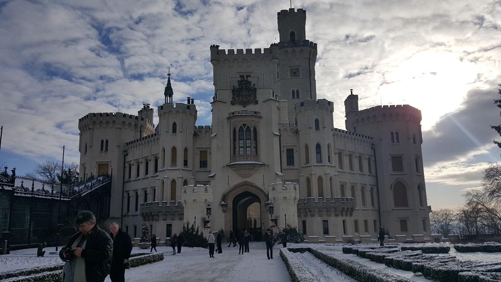Zámek Hluboká v zimě