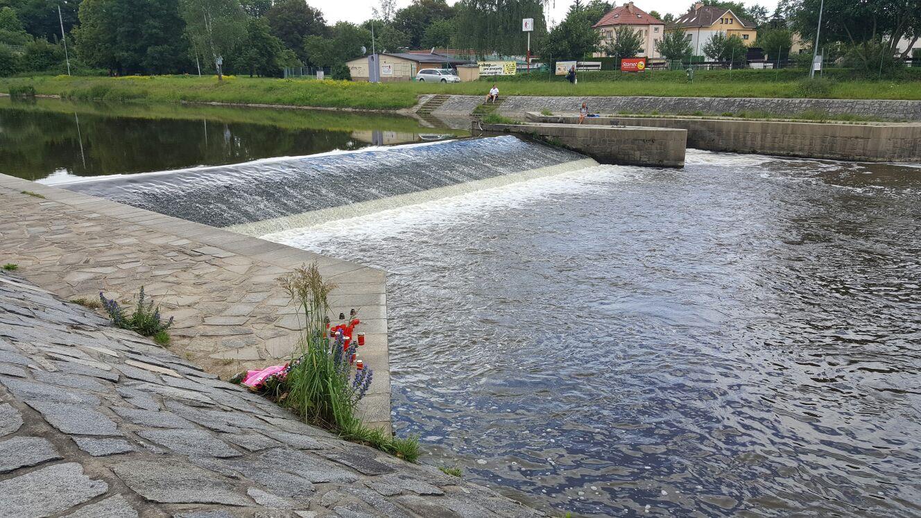 Malý jez Malák České Budějovice, řeka Malše, utonutí
