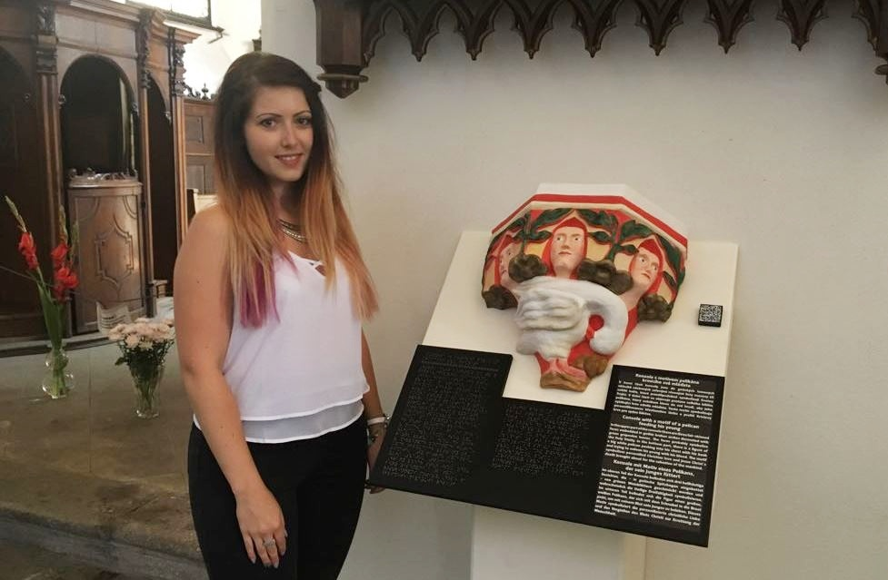 Autorkou haptické výstavy je studentka Veronika Boušková