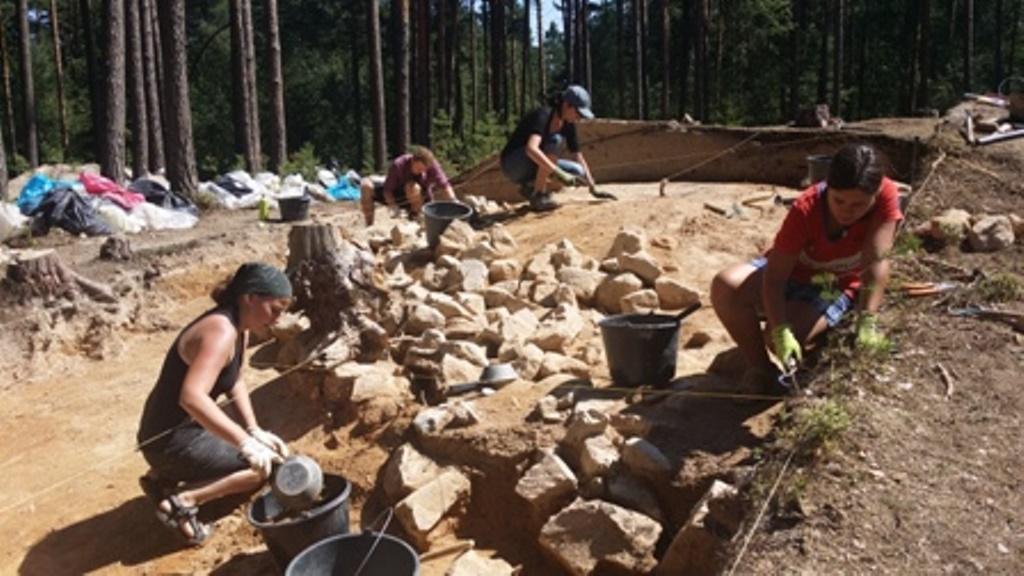 Archeologové zkoumají pravěké mohyly u Plavu na Českobudějovicku. Na místě se začne stavět dálnice D3