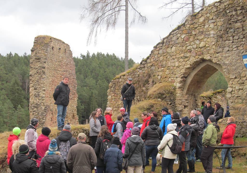 Novoroční prohlídka hradu Pořešín s kastelánem Radkem Kocandou