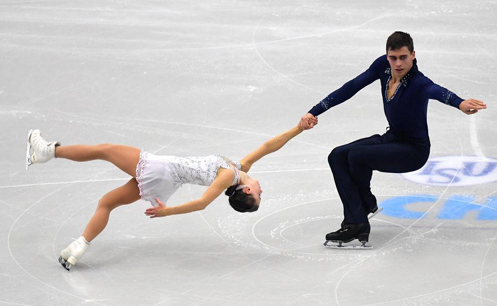 Sportovní dvojice Anna Dušková a Martin Bidař