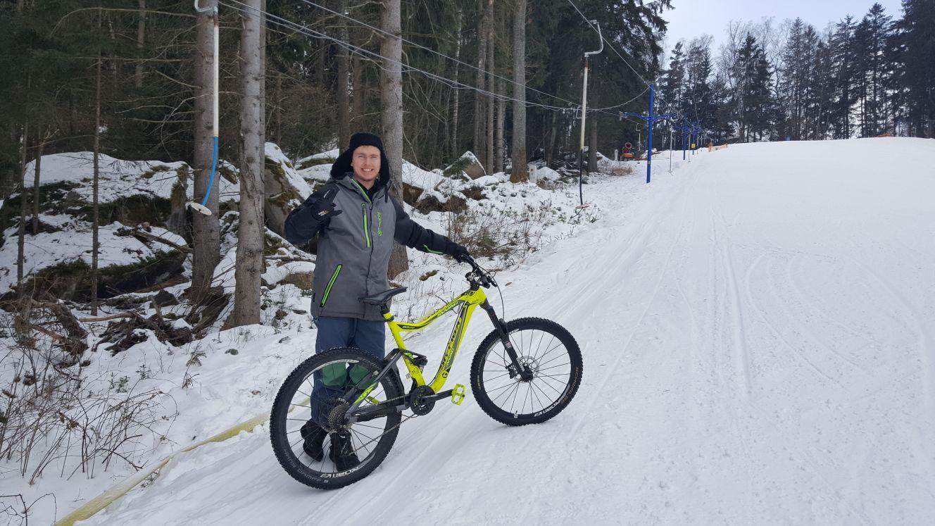 Iniciátor projektu Alexandr Sidor chce dvě tratě pro bikery otevřít už letos v červnu