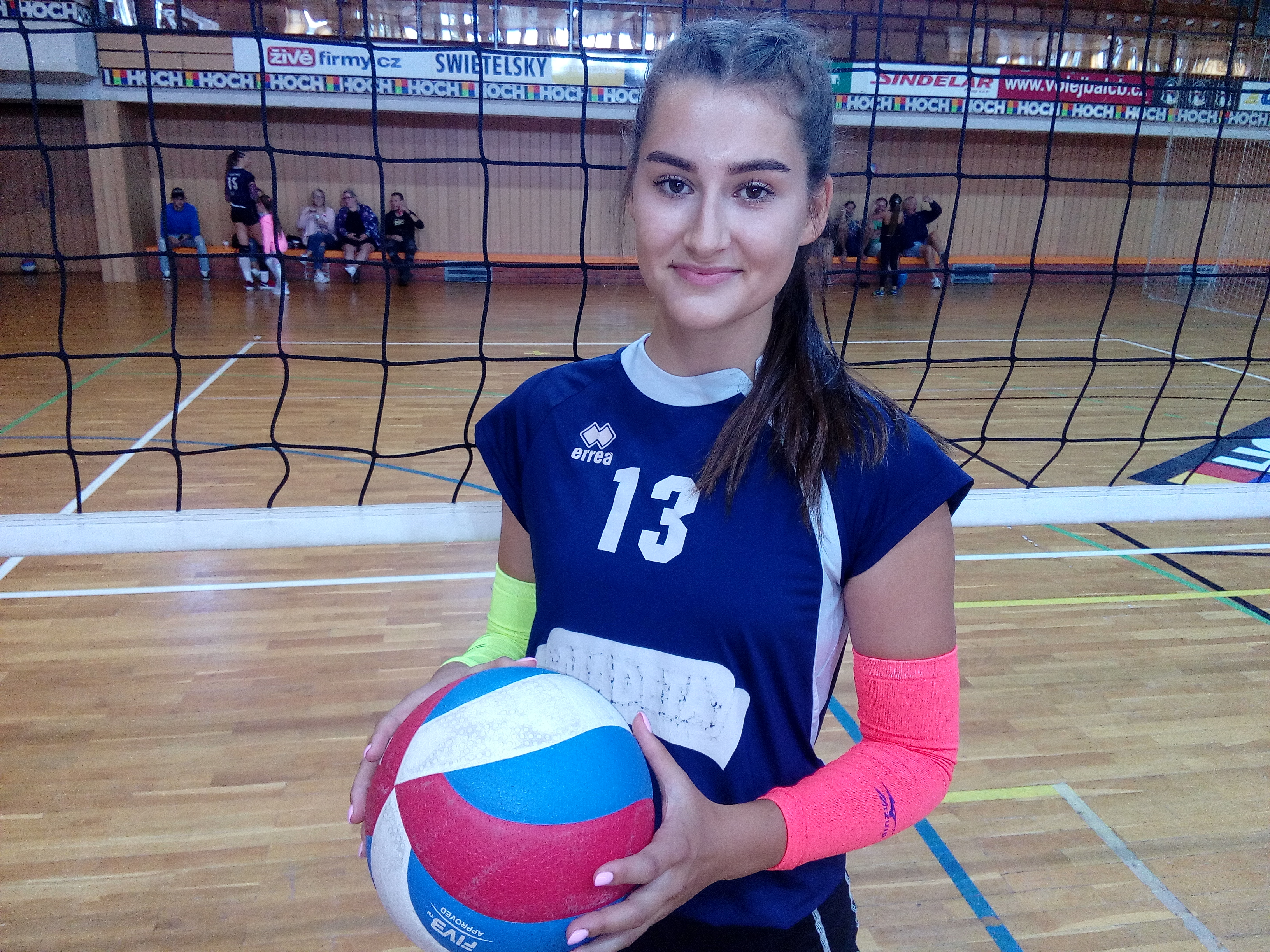 Volejbalistka týmu VK Madeta České Budějovice Helena Harrisová