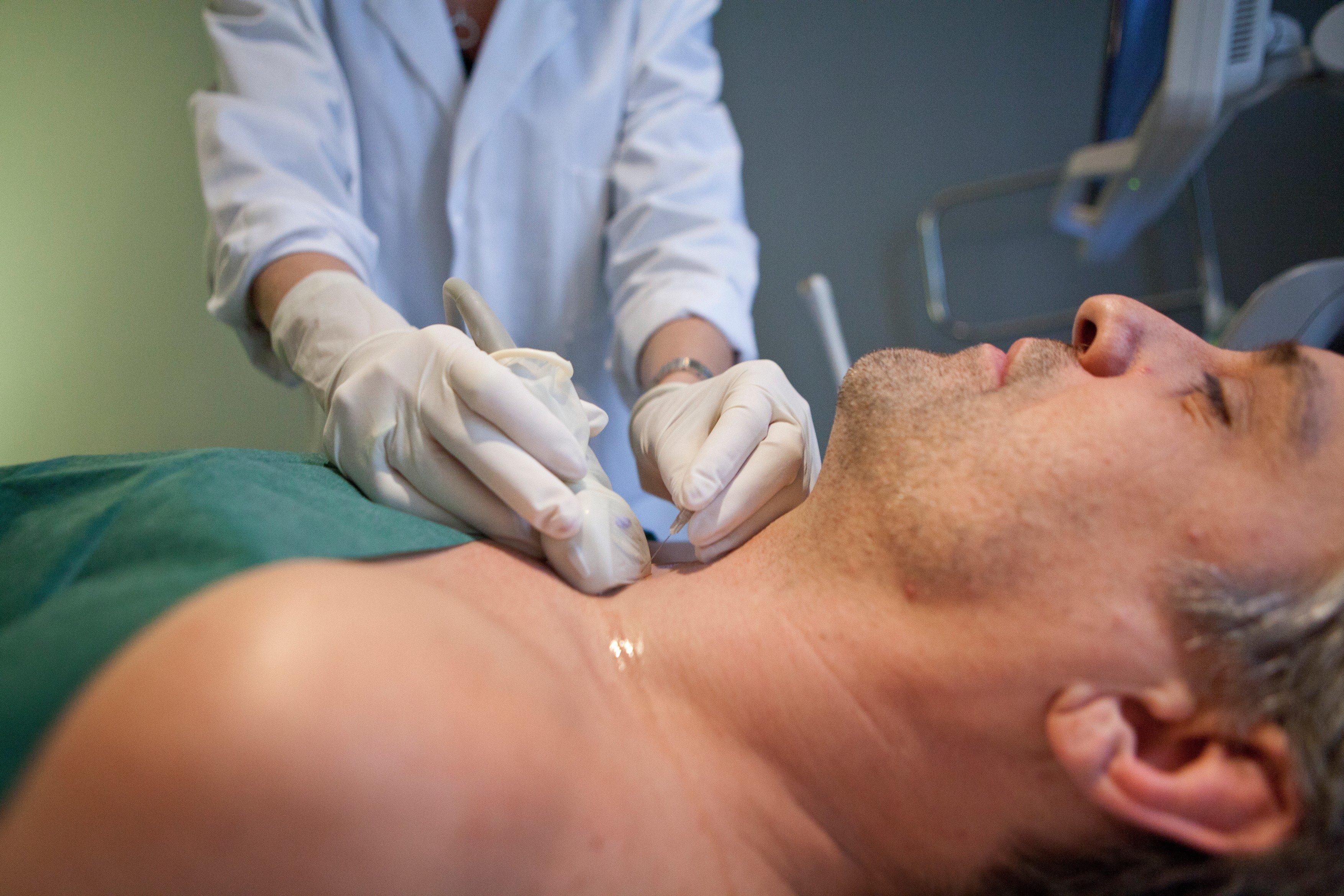 Štítná žláza, vyšetření krku, ultrazvuk