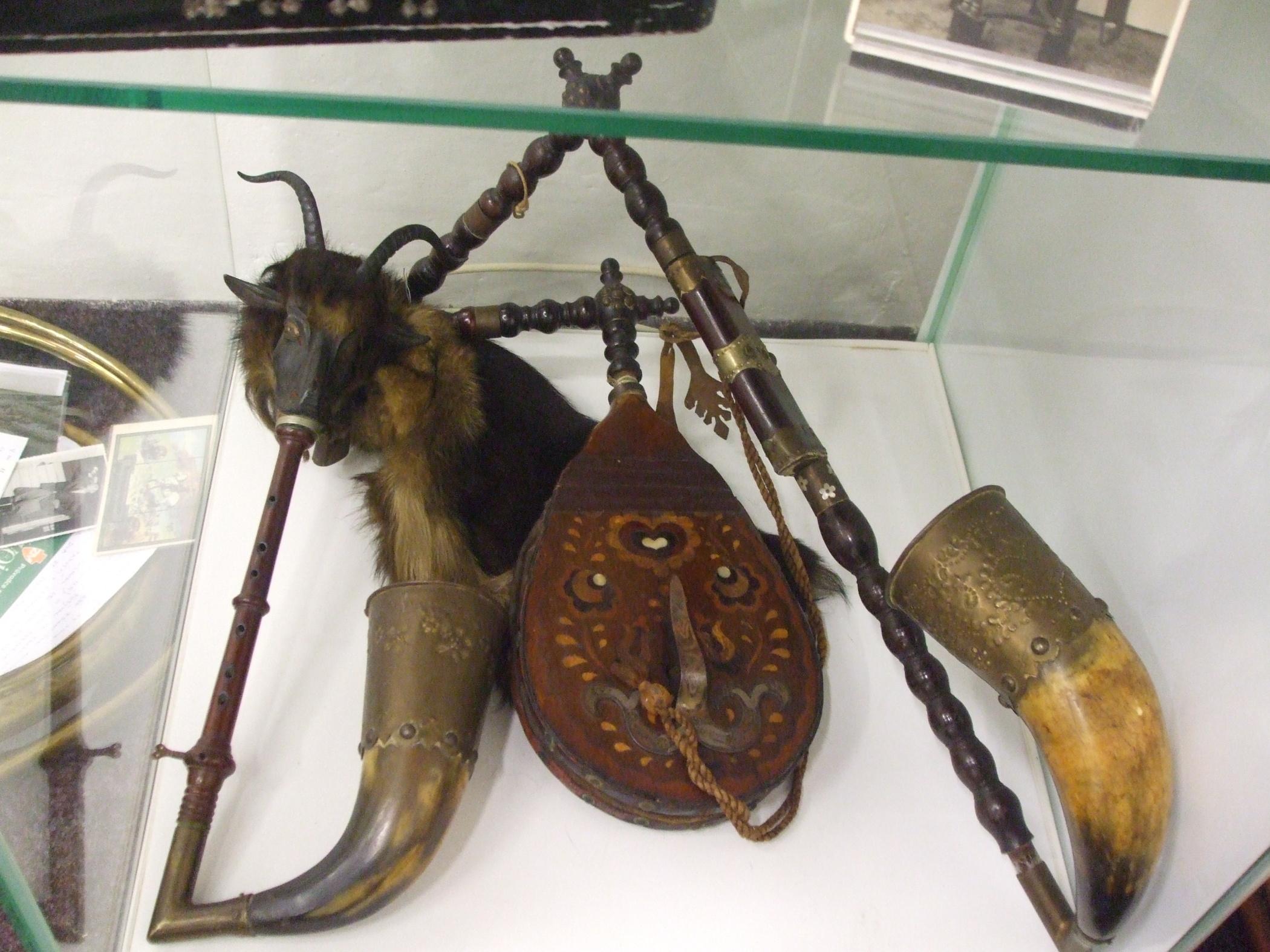 Výstava hudebních nástrojů v Žatci - dudy