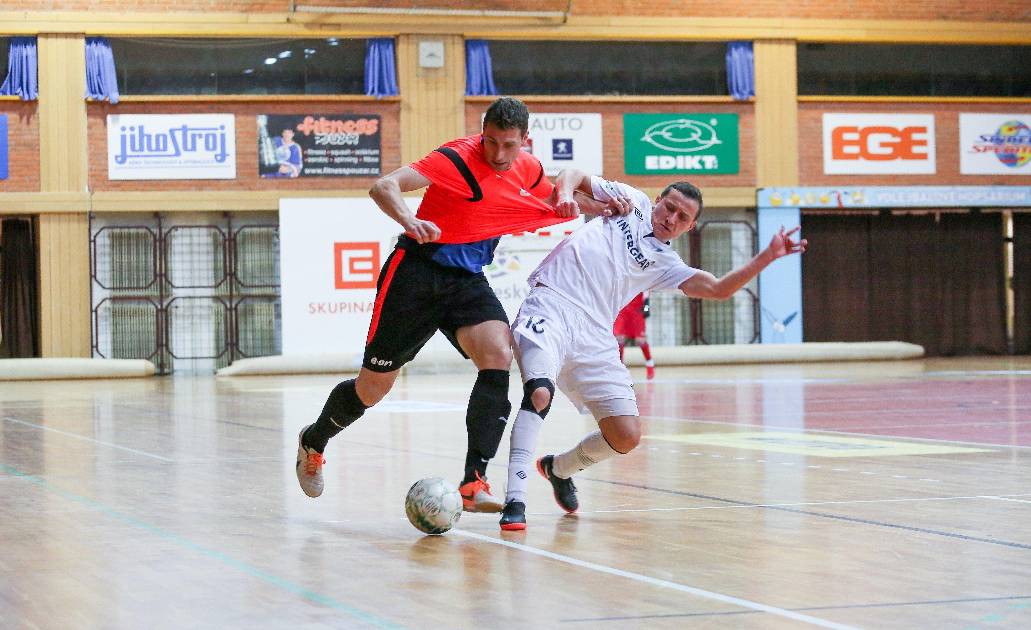 Futsal v Českých Budějovicích. Ilustrační foto