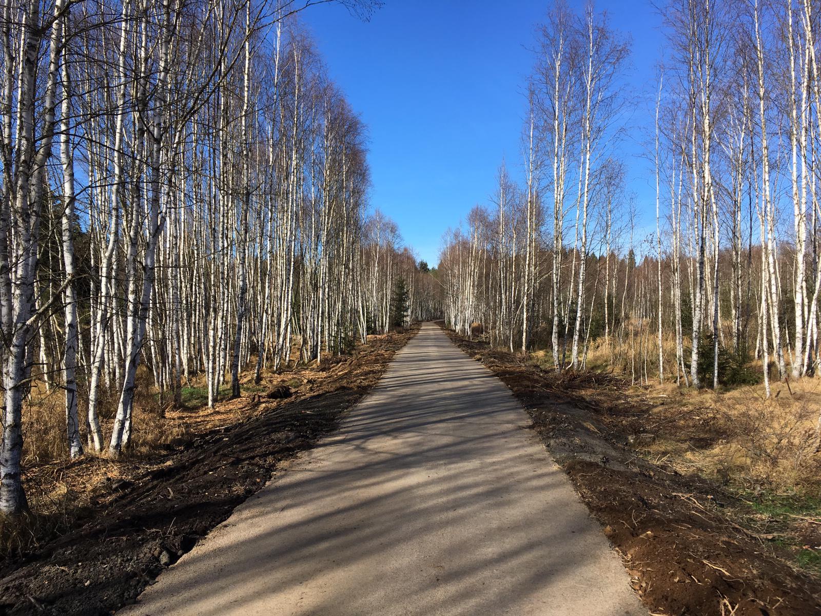 Nová cyklostezka mezi Soumarským mostem a městem Volary na Šumavě