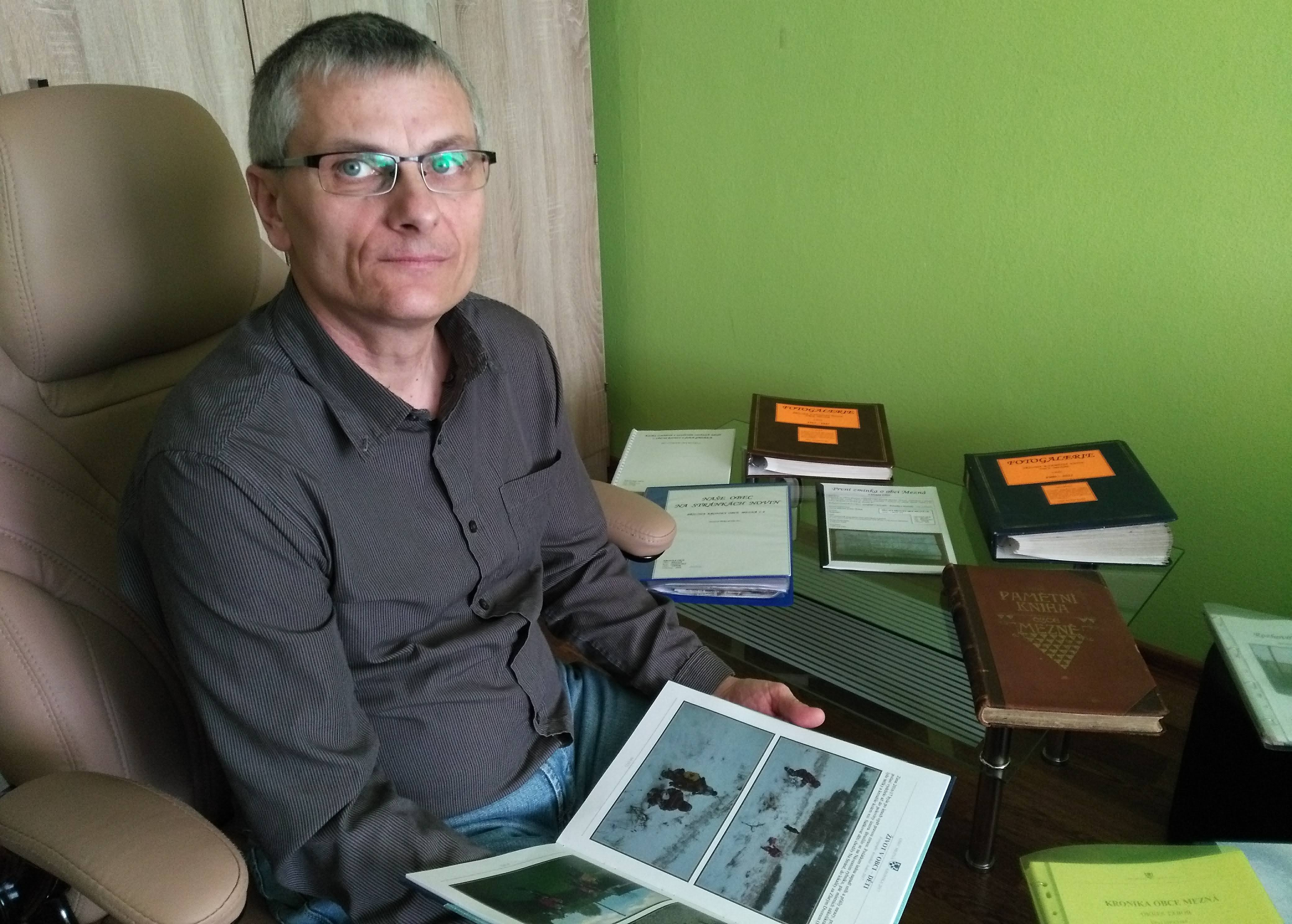 Jan Kolář, kronikář obce Mezná na Táborsku