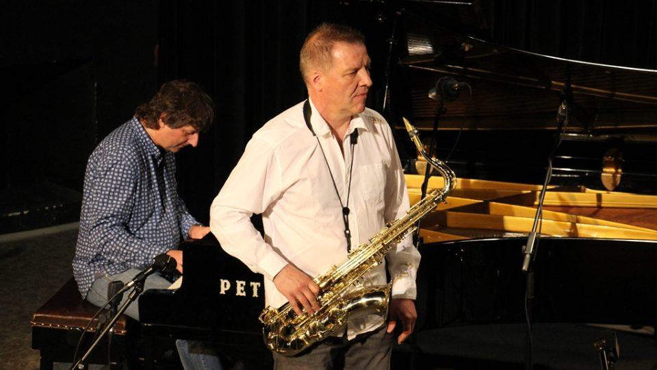 Petr Malásek & František Kop Quartet ve studiovém sále Českého rozhlasu České Budějovice