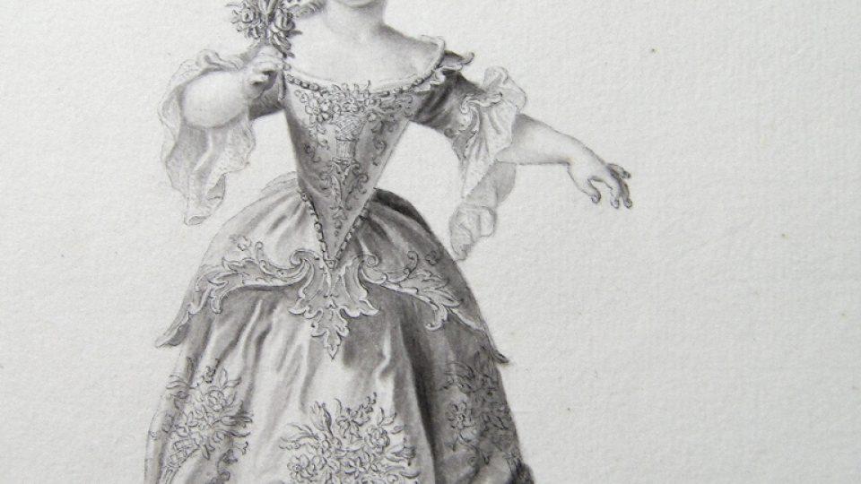 Dětský barokní taneční kostým