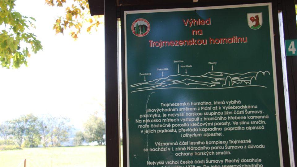 Park Adalberta Stiftera v Horní Plané