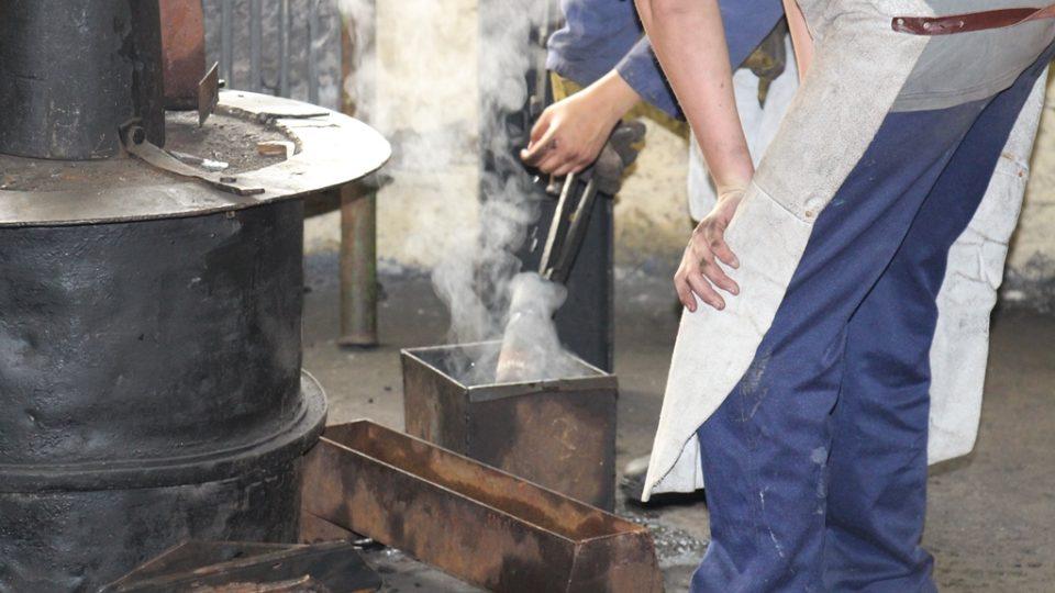 Kovářská dílna na středním odborném učilišti v Hněvkovicích