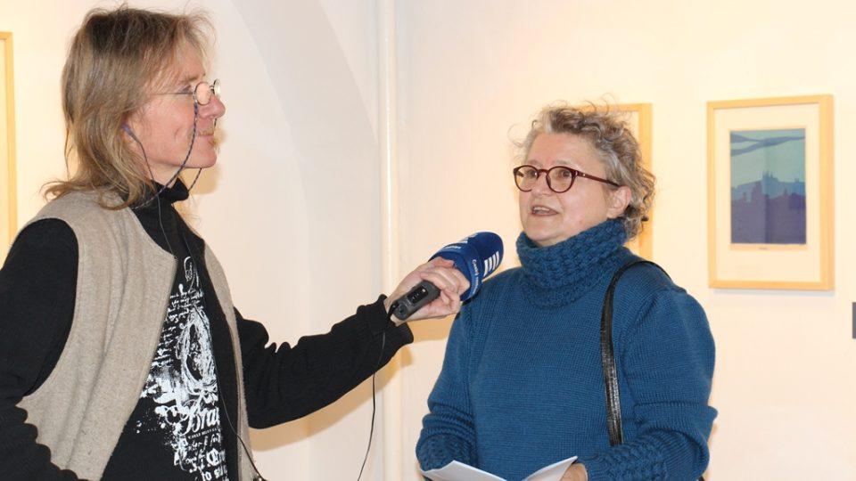 Historii Wortnerova domu přiblížila redaktorovi Zdeňku Zajíčkovi architektka Marika Petrmanová
