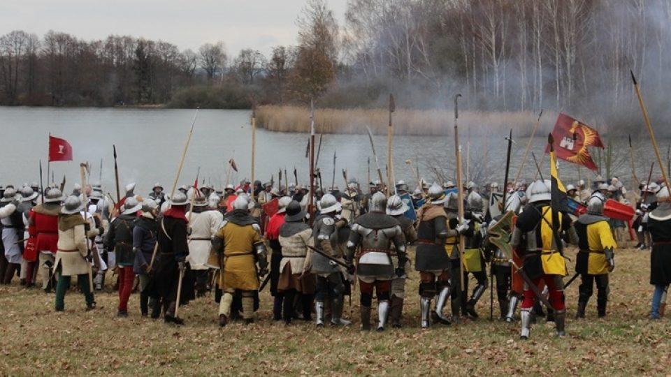 Rekonstrukce bitvy u Sudoměře a přímý přenos Českého rozhlasu České Budějovice