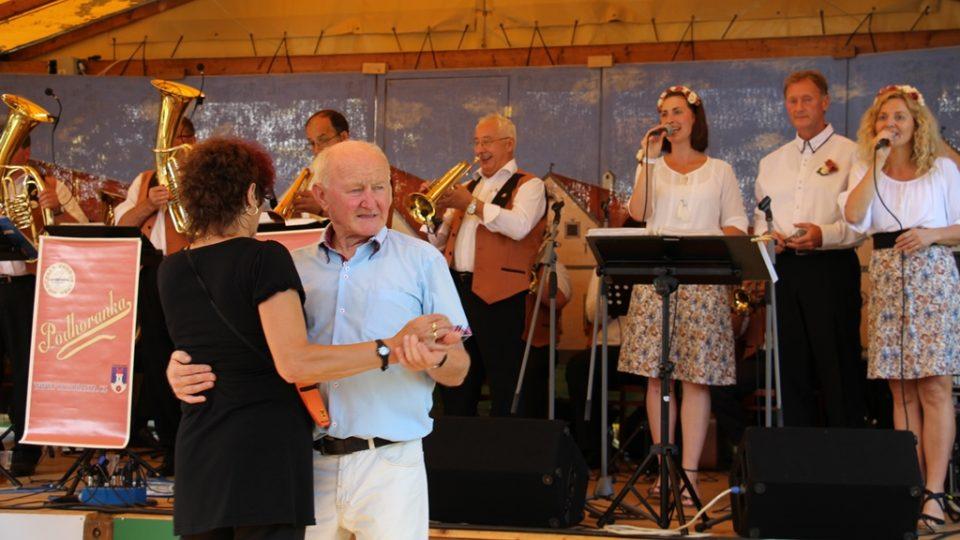 Na Selských slavnostech zahrála dechová kapela Podhoranka