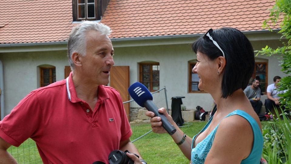Petr Prokop, majitel stodoly v Maříži, kde se konají koncerty