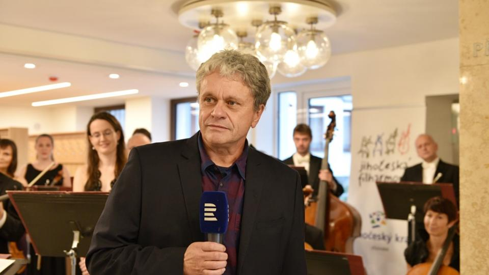 Jihočeská filharmonie otevřela po opravě svou budovu v Českých Budějovicích. Na snímku ředitel Otakar Svoboda