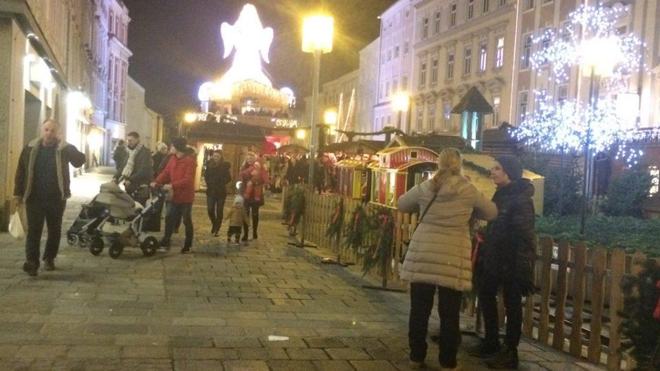 Adventní trhy v hornorakouském městě Wels
