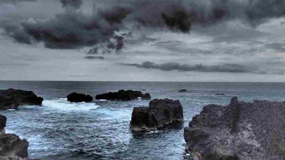 Jižní pobřeží ostrova Reunion