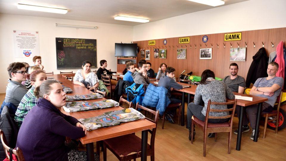 Školáci při přednášce v krajském pracovišti Besip v Českých Budějovicích
