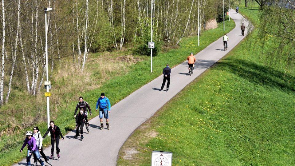 Pokud není určeno jinak, cyklisté a bruslaři se musí pohybovat při pravém okraji cyklostezky