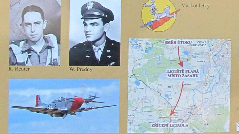 Pietní místo u Boršova nad Vltavou připomíná sestřelení svou amerických pilotů v dubnu 1945. Na informačním panelu jsou fotografie letců, mapka i maskot letky