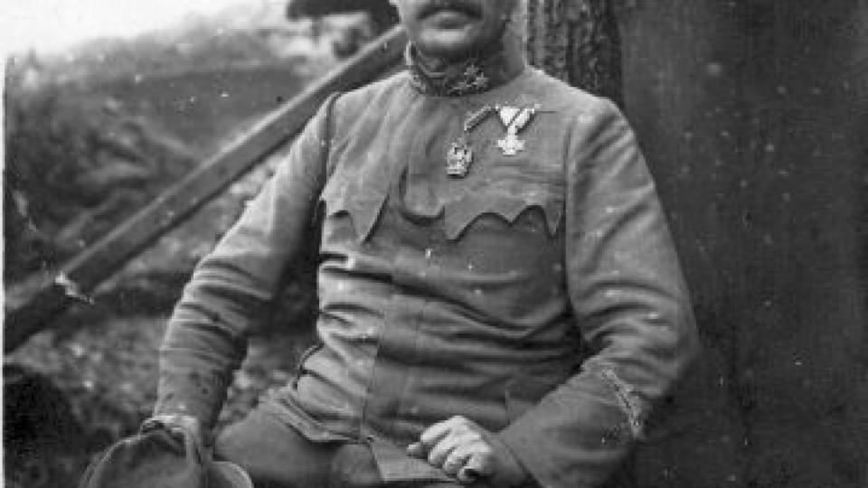 Velitel 91. pěšího pluku z Českých Budějovic plukovník Steinsberger