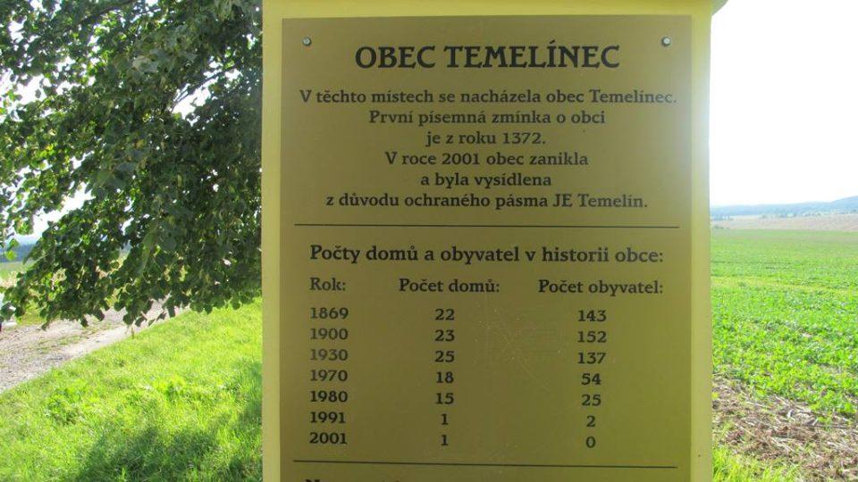 Mezi obce, které zanikly kvůli výstavbě jaderné elektrárny Temelín, patřil Temelínec