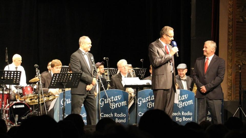 Rozhlasový Big Band Gustava Broma při koncertě v Táboře