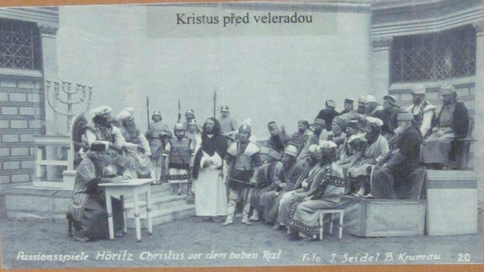 Muzeum pašijových her v Hořicích na Šumavě. Dobové fotografie