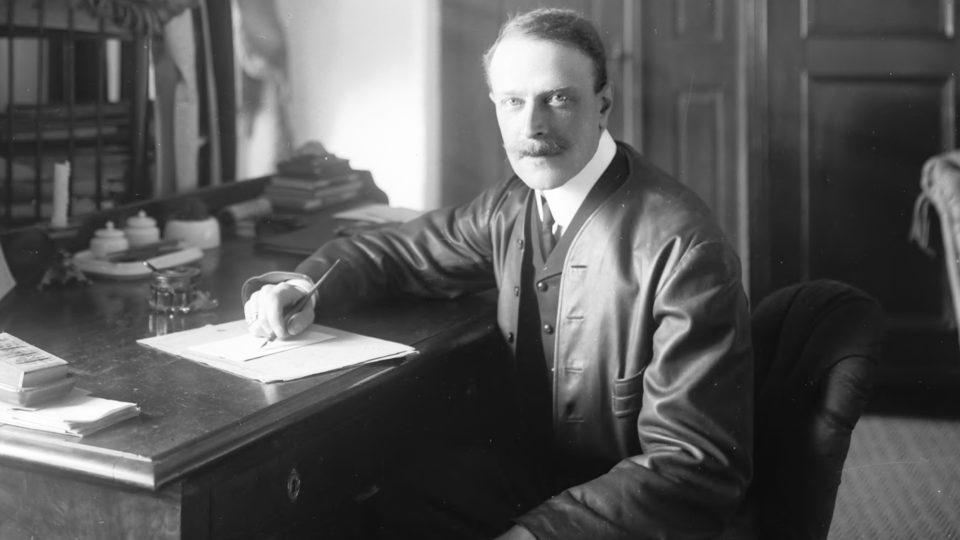 Baron JUDr. Ervín Nádherný 1876 - 1944, první předseda Mlék. družstva táborského