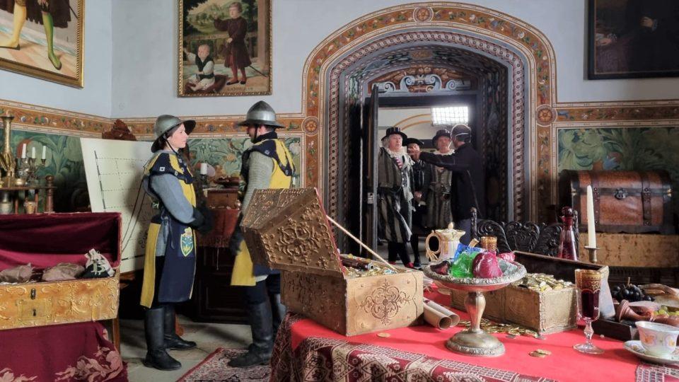 Natáčení pokračování pohádky Tajemství staré bambitky na zámku v Jindřichově Hradci