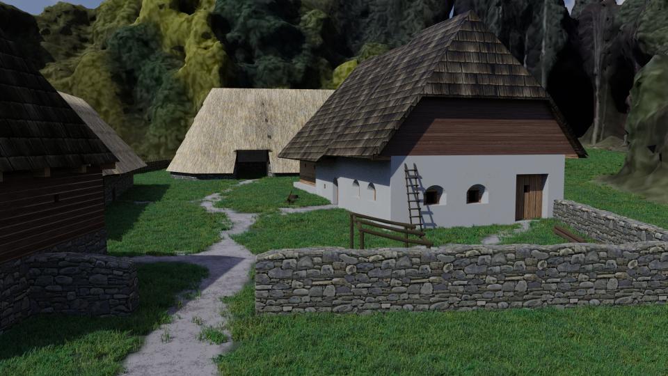 Vizualizace archeoskanzenu, který má vzniknout nedaleko areálu Jana Žižky v Trocnově na Českobudějovicku