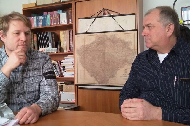 Daniel Kovář, ředitel Státního okresního archivu České Budějovice, a Václav Kovář, krajský koordinátor Besipu