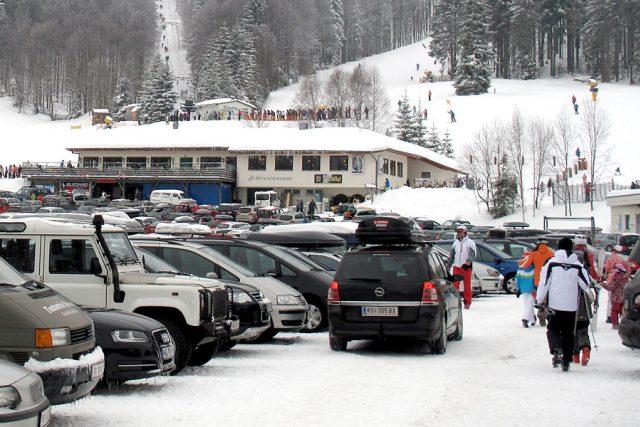 Parkování v lyžařském středisku (Hochficht, Rakousko)