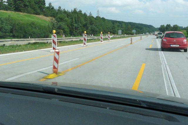 Omezení na dálnici (ilustrační foto)
