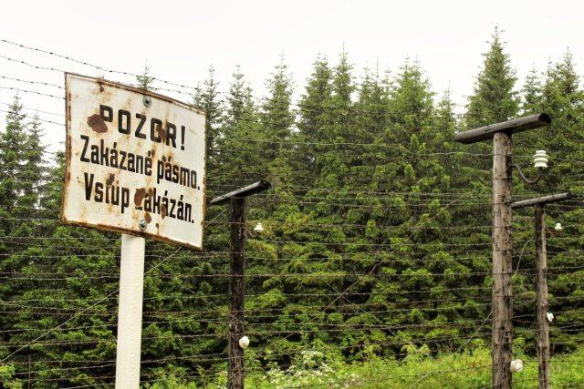 zakázané pásmo státní hranice s NSR