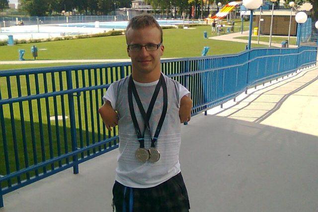 Paralympionik Arnošt Petráček přivezl z mistrovství světa v plavání dvě medaile