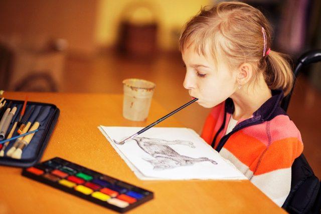 12letá malířka Barbora Sedláčková
