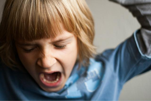 Křičící dítě. Ilustrační foto
