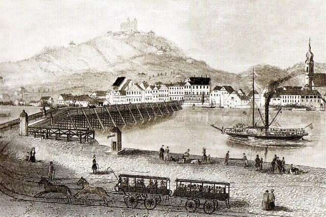 Most koněspřežné dráhy z Českých Budějovic v Linci
