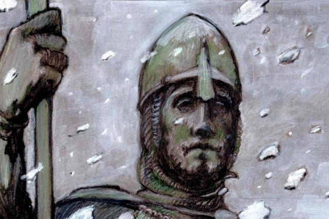 Svatý Václav (fragment kresby)