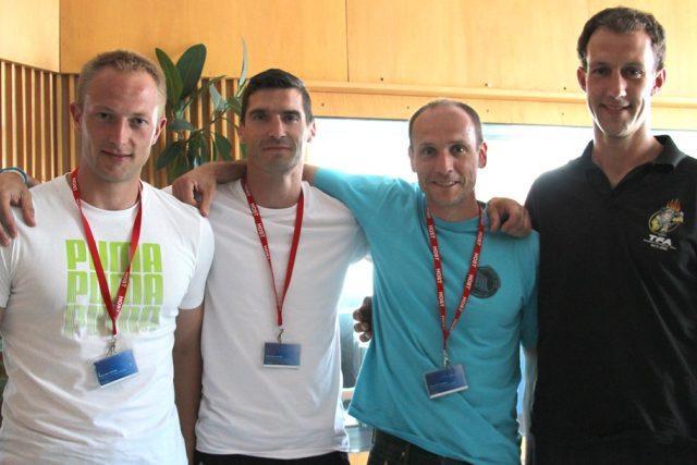 Jihočeši Jaroslav Poukar, Lukáš Houdek, David Kubiš a Petr Benda uspěli v hasičské soutěži TFA - Nejtvrdší hasič přežije