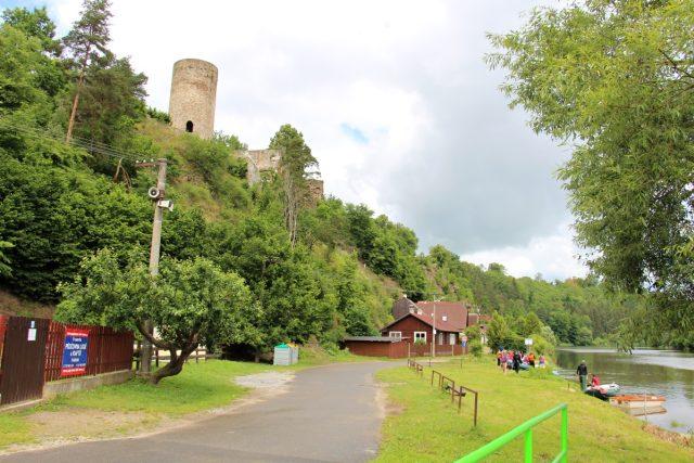 Hrad od řeky Lužnice