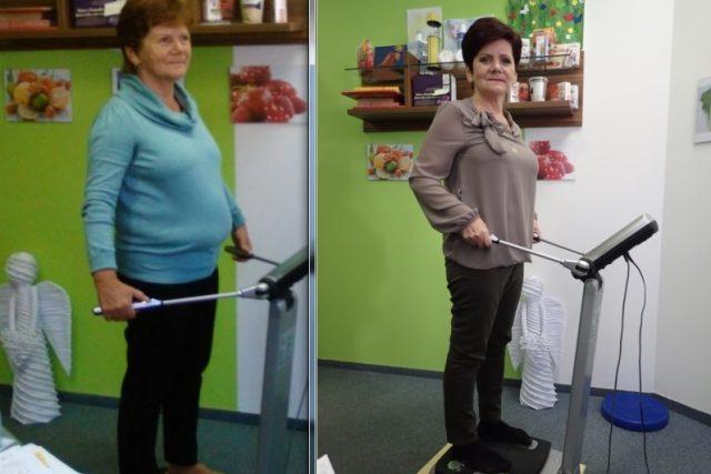 Jana v září 2015 a v lednu 2016. Během pouhých čtyř měsíců nastartovala zdravý životní styl a změna je vidět na první pohled | foto: Mirka Nezvalová