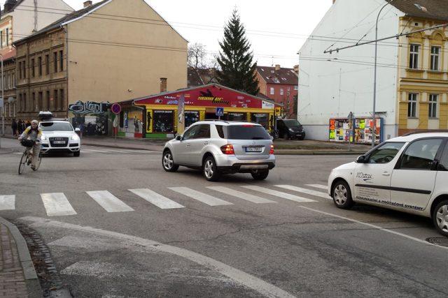 Křižovatka Pekárenská Jírovcova České Budějovice