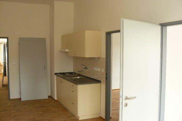 Jeden z bytů v domě pro sociální bydlení