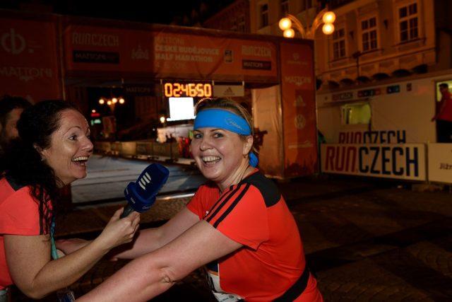 Dana v cíli s autorkou pořadu Návod na půlmaraton Márií Pfeiferovou
